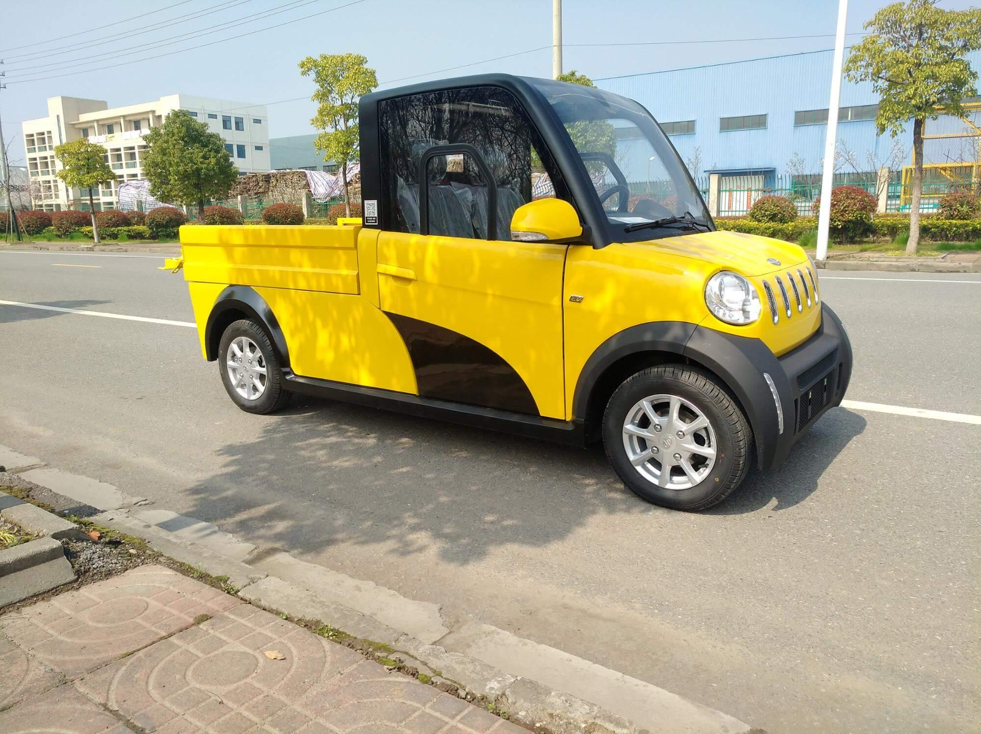 1. E-Tiger PickUp in Gelb